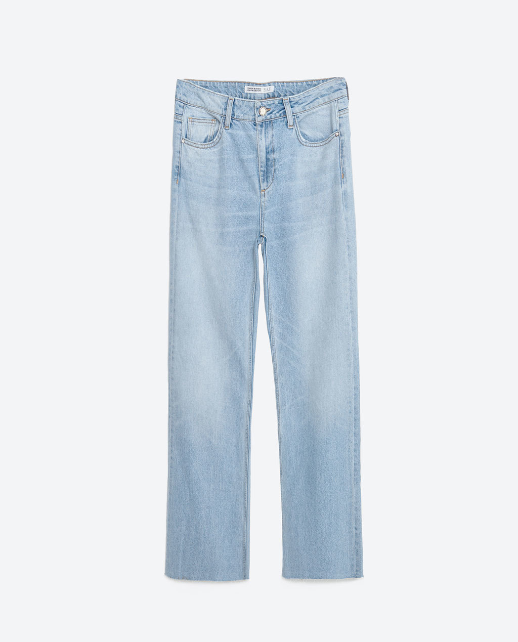 Medium Rise Wide Cut Jeans - length: standard; pattern: plain; pocket detail: traditional 5 pocket; waist: mid/regular rise; style: wide leg; predominant colour: denim; occasions: casual; fibres: cotton - stretch; texture group: denim; pattern type: fabric; season: s/s 2016; wardrobe: basic