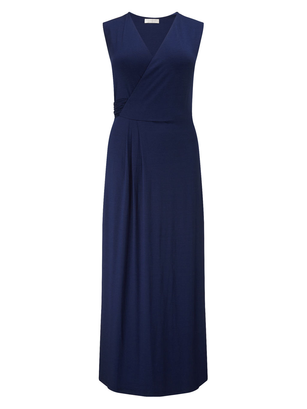 Navy Waist Detail Maxi Dress - neckline: low v-neck; pattern: plain; sleeve style: sleeveless; style: maxi dress; length: ankle length; predominant colour: navy; occasions: casual, evening, holiday; fit: body skimming; fibres: viscose/rayon - stretch; sleeve length: sleeveless; pattern type: fabric; texture group: jersey - stretchy/drapey; season: s/s 2016; wardrobe: basic