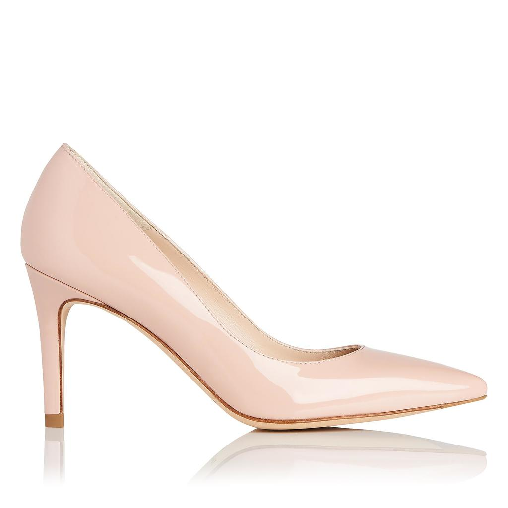 Floret Marshmallow Patent Courts Pink Marshmallow - predominant colour: blush; occasions: evening, occasion; material: leather; heel height: high; heel: stiletto; toe: pointed toe; style: courts; finish: patent; pattern: plain; season: s/s 2016; wardrobe: event
