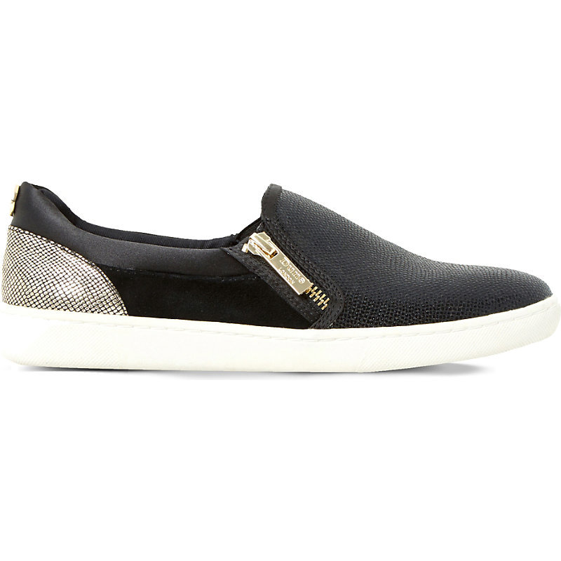 Edgar Leather And Suede Skate Shoes, Women's, Eur 40 / 7 Uk Women, Black Reptile - predominant colour: black; occasions: casual; material: leather; heel height: flat; toe: round toe; finish: plain; pattern: plain; shoe detail: moulded soul; style: skate shoes; season: s/s 2016; wardrobe: highlight