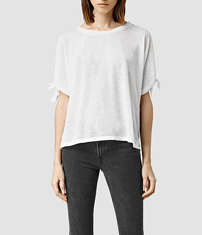 Catkin Tee - neckline: round neck; pattern: plain; style: t-shirt; predominant colour: white; occasions: casual; length: standard; fibres: cotton - 100%; fit: loose; sleeve length: half sleeve; sleeve style: standard; pattern type: fabric; texture group: jersey - stretchy/drapey; season: s/s 2016; wardrobe: basic