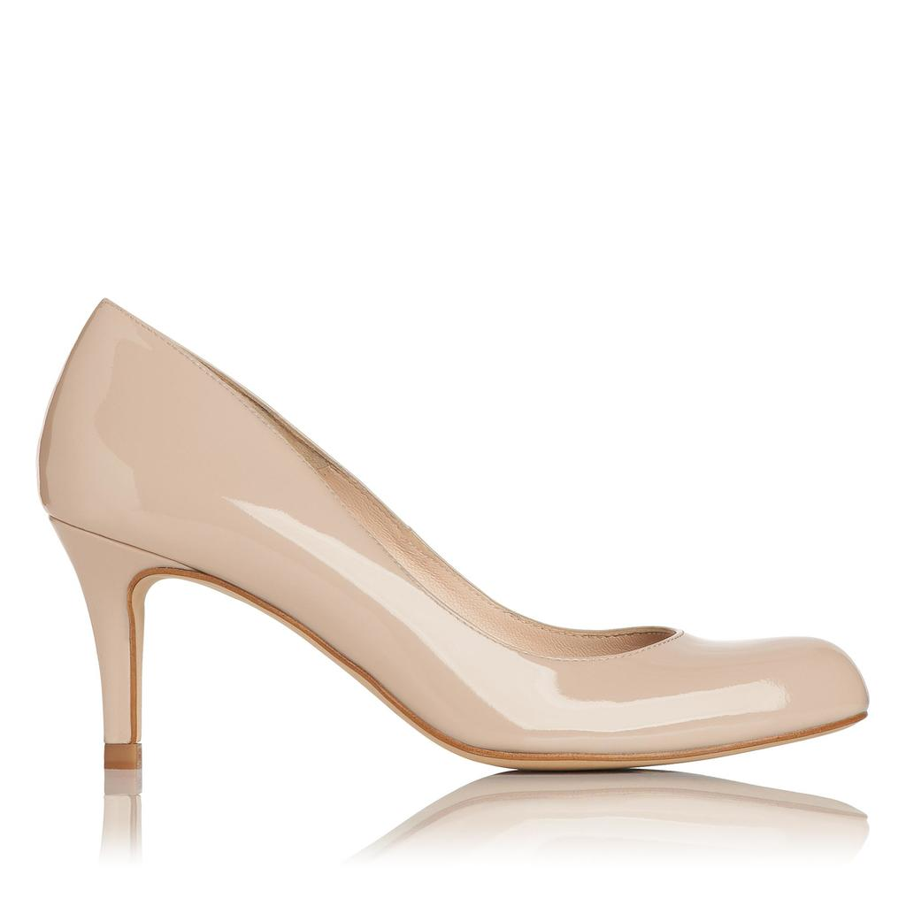 Opal Patent Nude Leather Court - predominant colour: nude; occasions: evening, occasion; material: leather; heel height: high; heel: stiletto; toe: round toe; style: courts; finish: patent; pattern: plain; season: s/s 2016; wardrobe: event