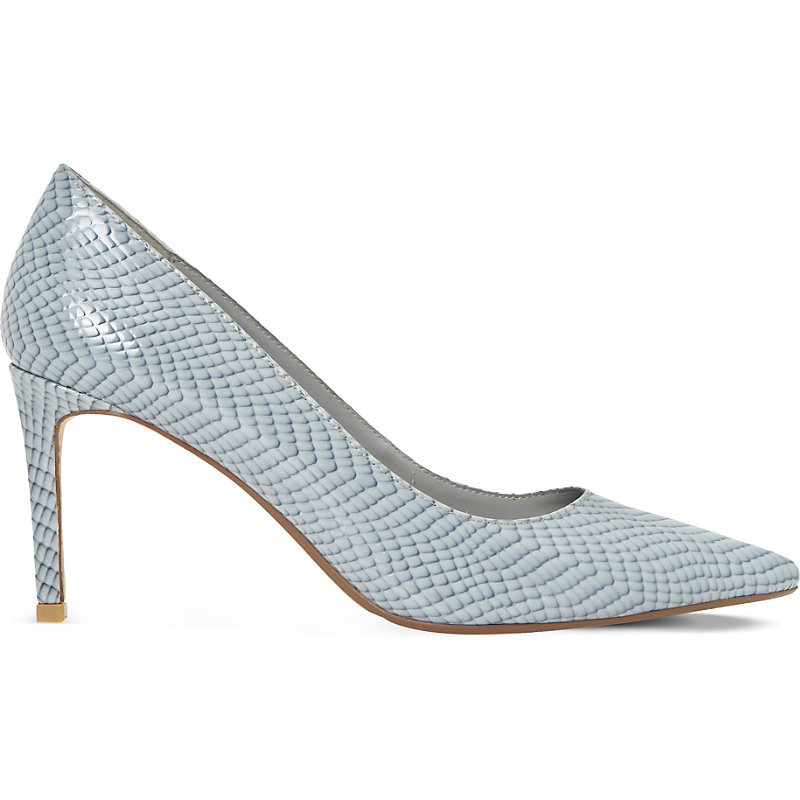Abbigail Leather Courts, Women's, Eur 40 / 7 Uk Women, Grey Reptile - predominant colour: light grey; occasions: evening; material: leather; heel height: high; heel: stiletto; toe: pointed toe; style: courts; finish: plain; pattern: animal print; season: s/s 2016