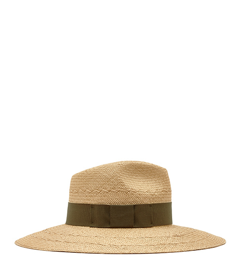 Bridie Wide Brim Straw Hat - secondary colour: khaki; predominant colour: stone; occasions: casual, holiday; type of pattern: light; style: wide brimmed; size: standard; material: macrame/raffia/straw; pattern: plain; embellishment: bow; season: s/s 2016; wardrobe: holiday