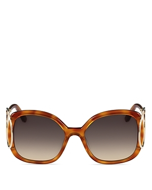 Jackson Square Sunglasses, 54mm - predominant colour: tan; occasions: casual, holiday; style: square; size: large; material: plastic/rubber; pattern: tortoiseshell; finish: plain; season: s/s 2016; wardrobe: highlight
