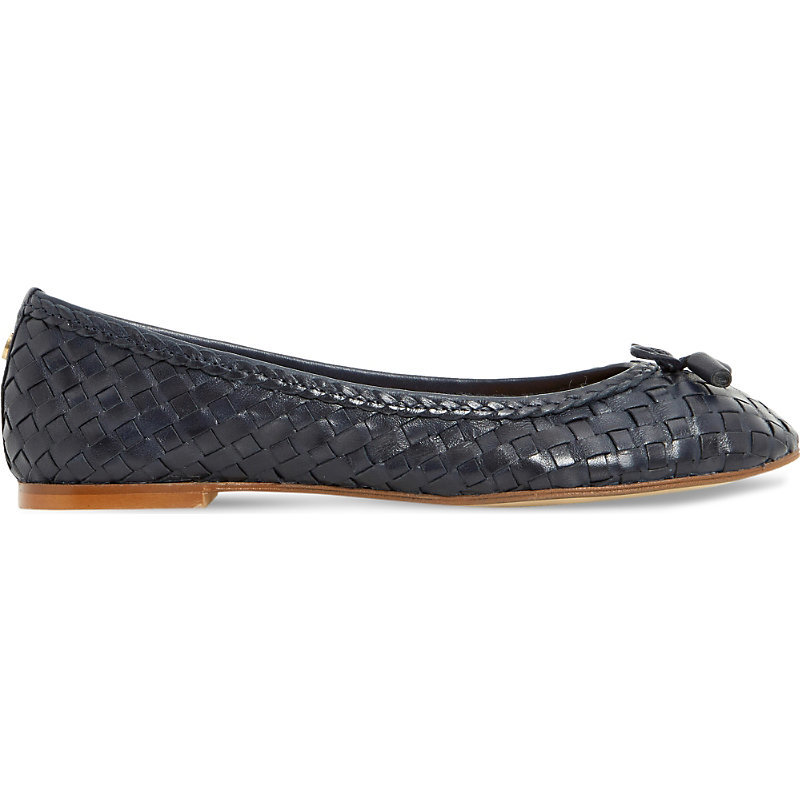 Hove Leather Ballet Flats, Women's, Eur 39 / 6 Uk Women, Navy Leather - predominant colour: navy; occasions: casual; material: leather; heel height: flat; toe: round toe; style: ballerinas / pumps; finish: plain; pattern: plain; embellishment: bow; season: s/s 2016; wardrobe: basic