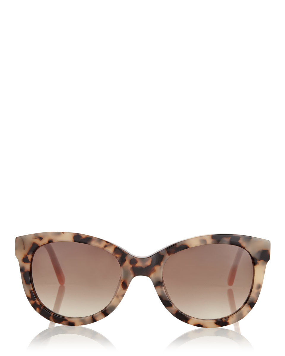 Lydia Sunglasses - predominant colour: chocolate brown; occasions: casual, holiday; style: cateye; size: large; material: plastic/rubber; pattern: tortoiseshell; finish: plain; season: s/s 2016; wardrobe: basic