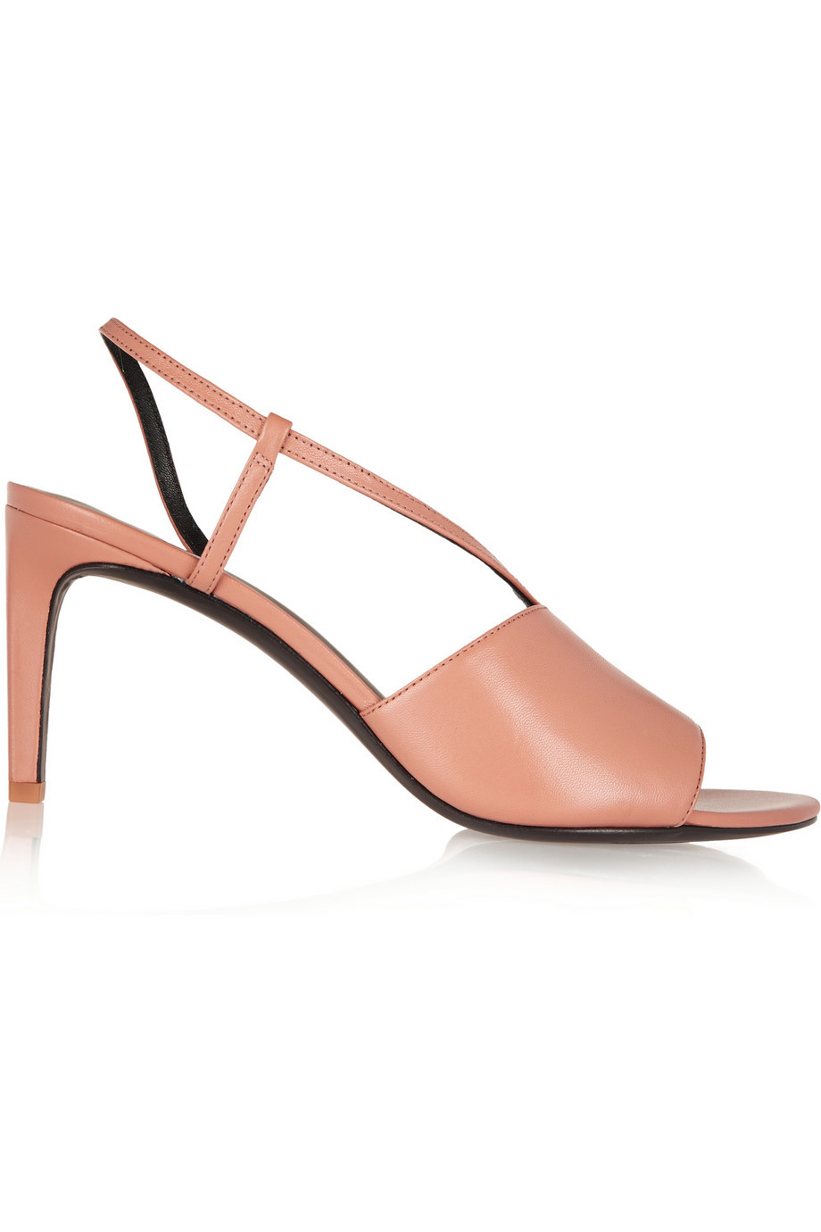 Marion Leather Sandals Neutral - occasions: occasion, creative work; material: leather; heel height: mid; heel: stiletto; toe: open toe/peeptoe; style: strappy; finish: plain; pattern: plain; predominant colour: dusky pink; season: s/s 2016; wardrobe: highlight