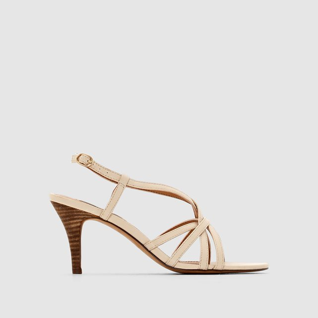 Dor Sandal2 Multi Strap Sandals - predominant colour: nude; occasions: evening, occasion; material: faux leather; heel height: high; heel: standard; toe: open toe/peeptoe; style: strappy; finish: plain; pattern: plain; season: s/s 2016
