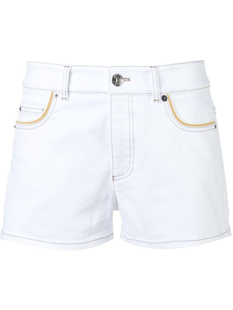 Denim Shorts, Women's, White - pattern: plain; waist: mid/regular rise; predominant colour: white; occasions: casual, holiday; fibres: cotton - mix; texture group: denim; pattern type: fabric; season: s/s 2016; style: denim; length: short shorts; fit: slim leg