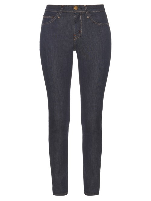 The High Waist Skinny Fit Denim Jeans - style: skinny leg; length: standard; pattern: plain; pocket detail: traditional 5 pocket; waist: mid/regular rise; predominant colour: navy; occasions: casual; fibres: cotton - stretch; texture group: denim; pattern type: fabric; season: s/s 2016; wardrobe: basic