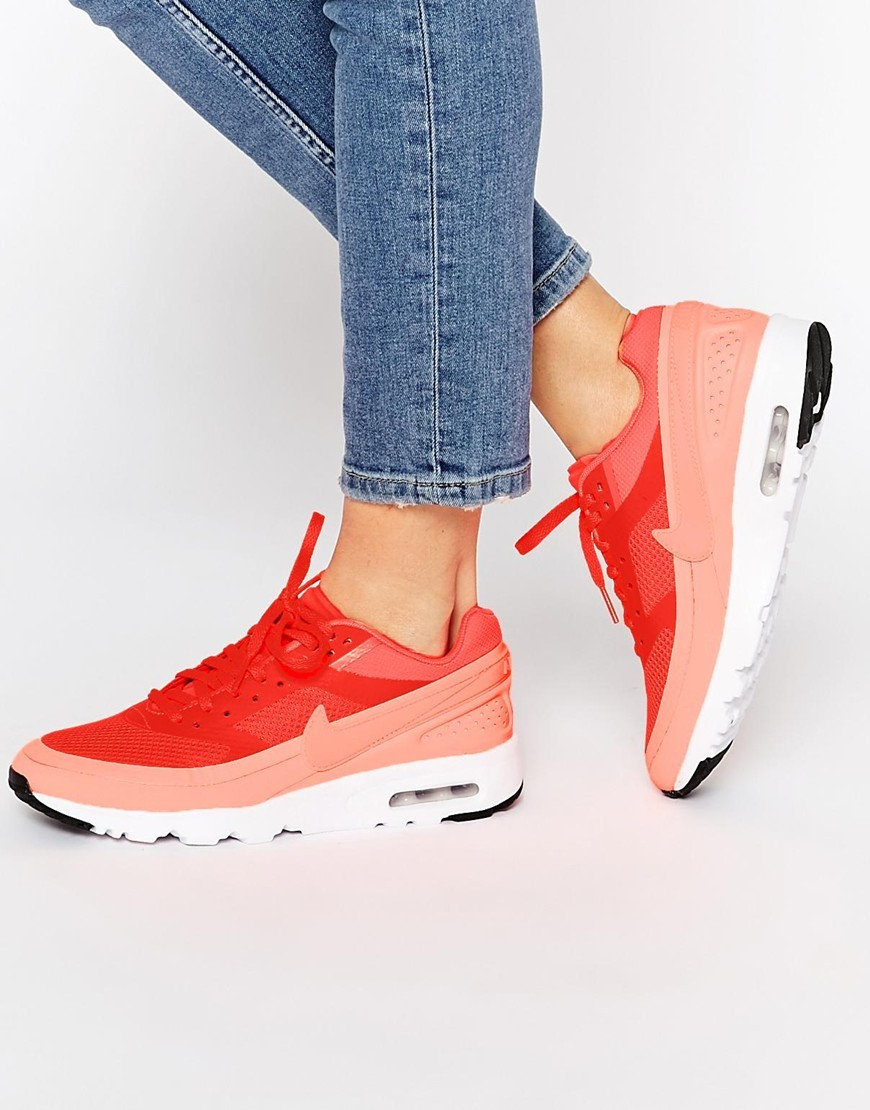 Bright Crimson Air Max Bw Ultra Trainers Bright Crimson - secondary colour: pink; predominant colour: true red; occasions: casual; material: fabric; heel height: flat; toe: round toe; style: trainers; finish: plain; pattern: plain; shoe detail: moulded soul; season: s/s 2016; wardrobe: highlight