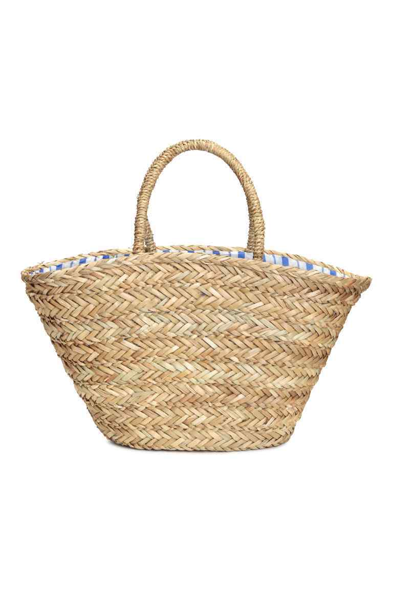 Straw Bag - predominant colour: ivory/cream; occasions: casual, holiday; type of pattern: standard; style: shoulder; length: shoulder (tucks under arm); size: oversized; material: macrame/raffia/straw; pattern: plain; finish: plain; season: s/s 2016; wardrobe: highlight