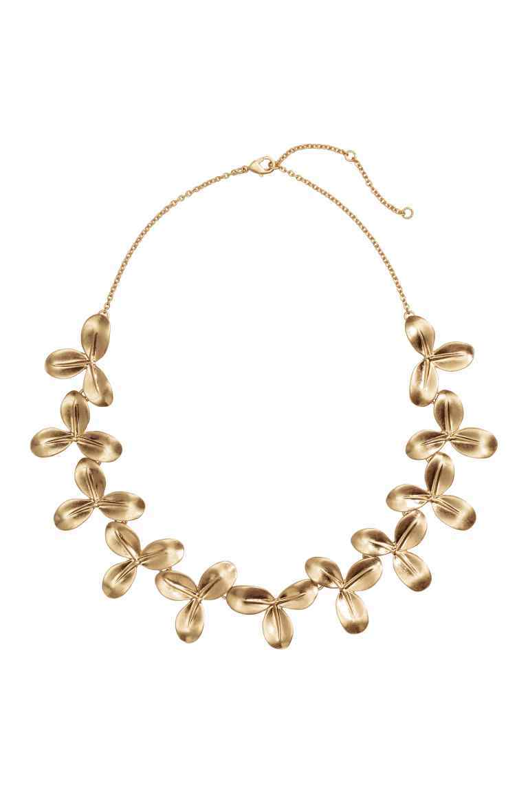 Short Necklace - predominant colour: gold; occasions: evening, occasion; length: short; size: large/oversized; material: chain/metal; finish: metallic; embellishment: jewels/stone; style: bib/statement; season: s/s 2016; wardrobe: event