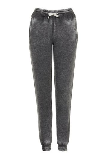 Burnout Jogger - length: standard; style: tracksuit pants; waist detail: belted waist/tie at waist/drawstring; waist: mid/regular rise; predominant colour: charcoal; fibres: polyester/polyamide - mix; fit: tapered; pattern type: fabric; texture group: jersey - stretchy/drapey; pattern: marl; occasions: activity; pattern size: light/subtle (bottom); trends: tomboy girl; season: s/s 2016