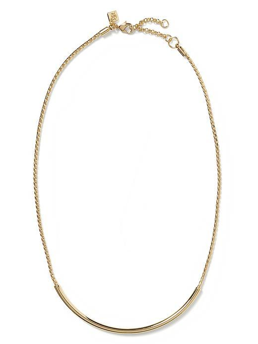 Tennessee Collar Necklace Gold - predominant colour: gold; occasions: casual, work, creative work; length: mid; size: standard; material: chain/metal; finish: plain; season: s/s 2016; wardrobe: basic; style: chain (no pendant)