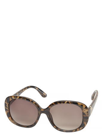 Womens Milky Tortoise 'amber' Sunglasses Brown - predominant colour: chocolate brown; secondary colour: tan; occasions: casual, holiday; style: square; size: standard; material: plastic/rubber; pattern: tortoiseshell; finish: plain; season: s/s 2016; wardrobe: basic