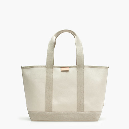 Surfside Canvas Tote Bag - predominant colour: stone; occasions: casual; type of pattern: light; style: tote; length: handle; size: oversized; material: fabric; pattern: plain; finish: plain; season: s/s 2016; wardrobe: investment