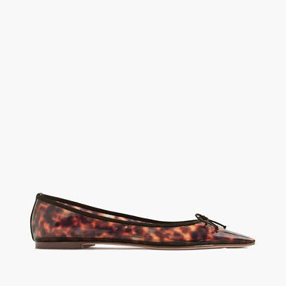 Gemma Tortoise Flats - predominant colour: chocolate brown; secondary colour: tan; occasions: casual, creative work; material: leather; heel height: flat; toe: pointed toe; style: ballerinas / pumps; finish: plain; pattern: animal print; season: s/s 2016; wardrobe: highlight