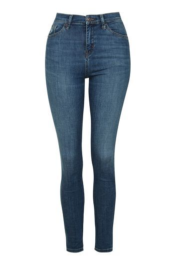 Moto Authentic Cain Skinny Jeans - style: skinny leg; length: standard; pattern: plain; pocket detail: traditional 5 pocket; waist: mid/regular rise; predominant colour: royal blue; occasions: casual, creative work; fibres: cotton - stretch; texture group: denim; pattern type: fabric; trends: glossy girl; season: s/s 2016; wardrobe: basic