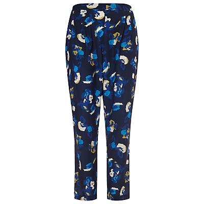 Skyler Trousers, Blue/Multi - style: peg leg; waist: high rise; secondary colour: diva blue; predominant colour: navy; occasions: casual, creative work; length: ankle length; fibres: polyester/polyamide - 100%; fit: tapered; pattern type: fabric; pattern: patterned/print; texture group: woven light midweight; pattern size: standard (bottom); season: s/s 2016; wardrobe: highlight
