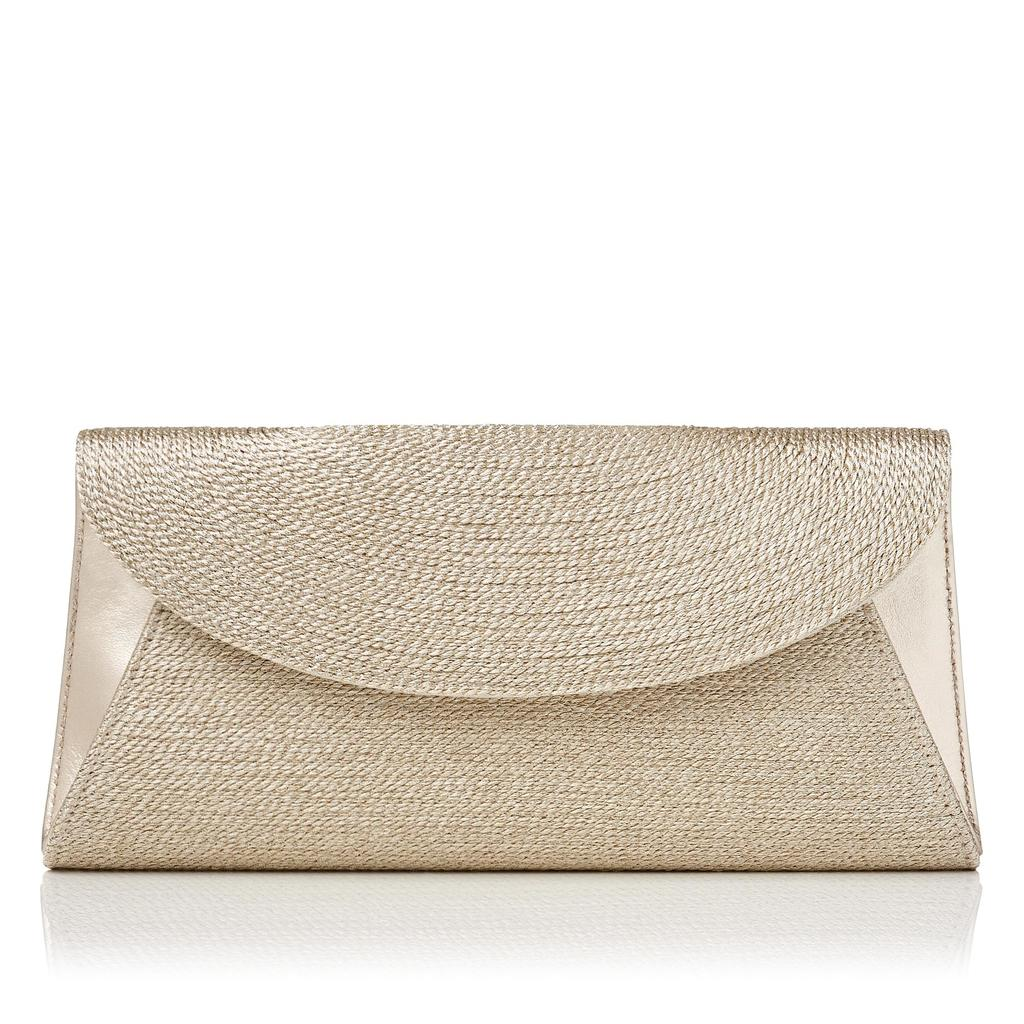 Flo Gold Clutch Metallic Soft Gold - predominant colour: gold; occasions: evening, occasion; type of pattern: small; style: clutch; length: hand carry; size: small; material: leather; pattern: plain; finish: metallic; season: s/s 2016; wardrobe: event