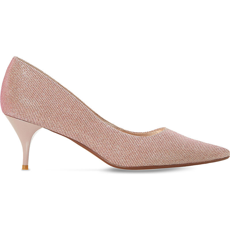 Allera Lurex Courts, Women's, Eur 39 / 6 Uk Women, Pink Fabric - predominant colour: blush; occasions: evening, work, occasion; material: fabric; heel height: mid; heel: stiletto; toe: pointed toe; style: courts; finish: plain; pattern: plain; season: s/s 2016