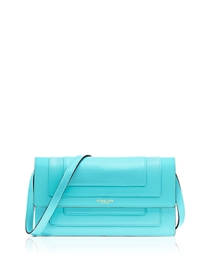 Collection Medium Surrey Clutch - predominant colour: turquoise; occasions: evening; type of pattern: standard; style: clutch; length: hand carry; size: small; material: leather; pattern: plain; finish: metallic; season: s/s 2016; wardrobe: event