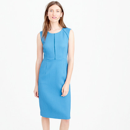 Tall Portfolio Dress - style: shift; length: below the knee; neckline: round neck; fit: tailored/fitted; pattern: plain; sleeve style: sleeveless; predominant colour: turquoise; occasions: evening, occasion, creative work; fibres: polyester/polyamide - 100%; sleeve length: sleeveless; pattern type: fabric; texture group: woven light midweight; season: s/s 2016; wardrobe: highlight