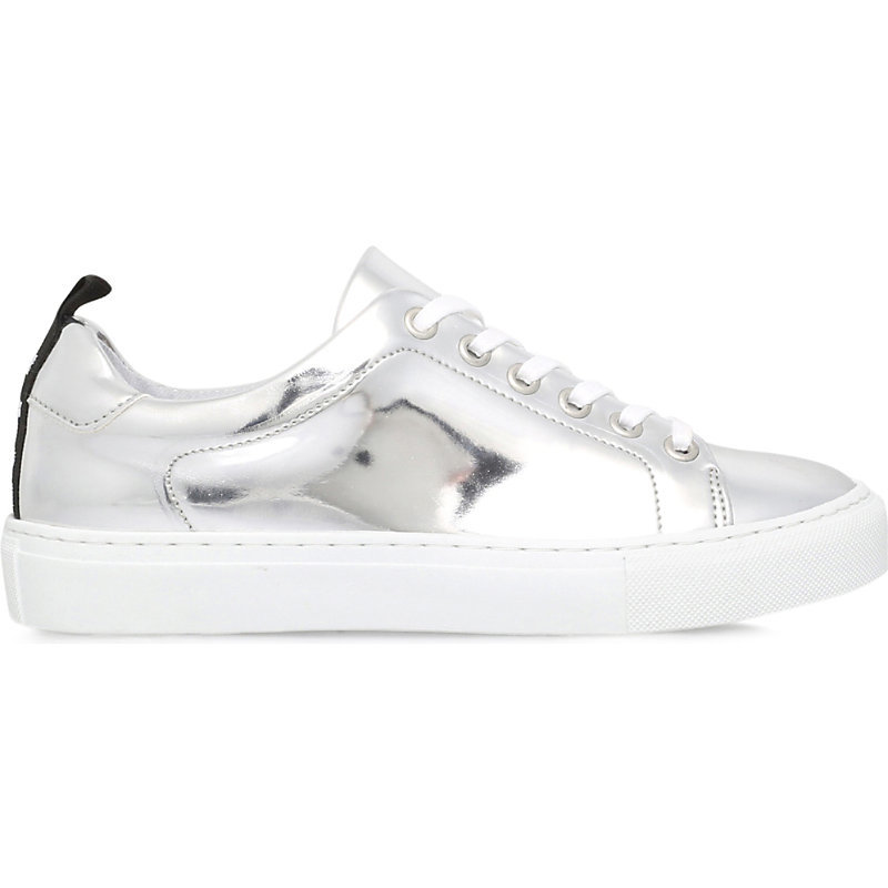 Lava Metallic Leather Trainers, Women's, Eur 40 / 7 Uk Women, Silver - predominant colour: silver; occasions: casual; material: leather; heel height: flat; toe: round toe; style: trainers; finish: metallic; pattern: plain; season: s/s 2016; wardrobe: basic