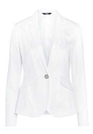 Single Button Suit Jacket In White Size - pattern: plain; style: single breasted blazer; collar: standard lapel/rever collar; predominant colour: ivory/cream; length: standard; fit: tailored/fitted; fibres: cotton - 100%; sleeve length: long sleeve; sleeve style: standard; collar break: medium; pattern type: fabric; texture group: woven light midweight; occasions: creative work; season: s/s 2016