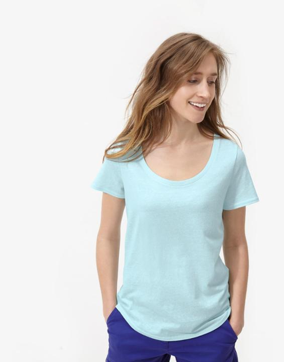 Cool Blue Daily T Shirt Size 14 | Uk - neckline: round neck; pattern: plain; style: t-shirt; predominant colour: pale blue; occasions: casual; length: standard; fibres: polyester/polyamide - mix; fit: body skimming; sleeve length: short sleeve; sleeve style: standard; pattern type: fabric; texture group: jersey - stretchy/drapey; season: s/s 2016; wardrobe: highlight