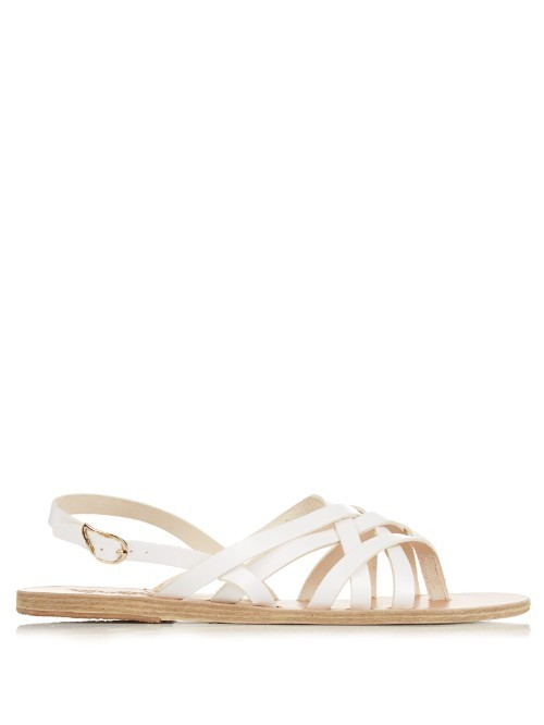 Effie Leather Sandals - predominant colour: white; occasions: casual; material: leather; heel height: flat; ankle detail: ankle strap; heel: standard; toe: open toe/peeptoe; style: strappy; finish: plain; pattern: plain; season: s/s 2016; wardrobe: basic