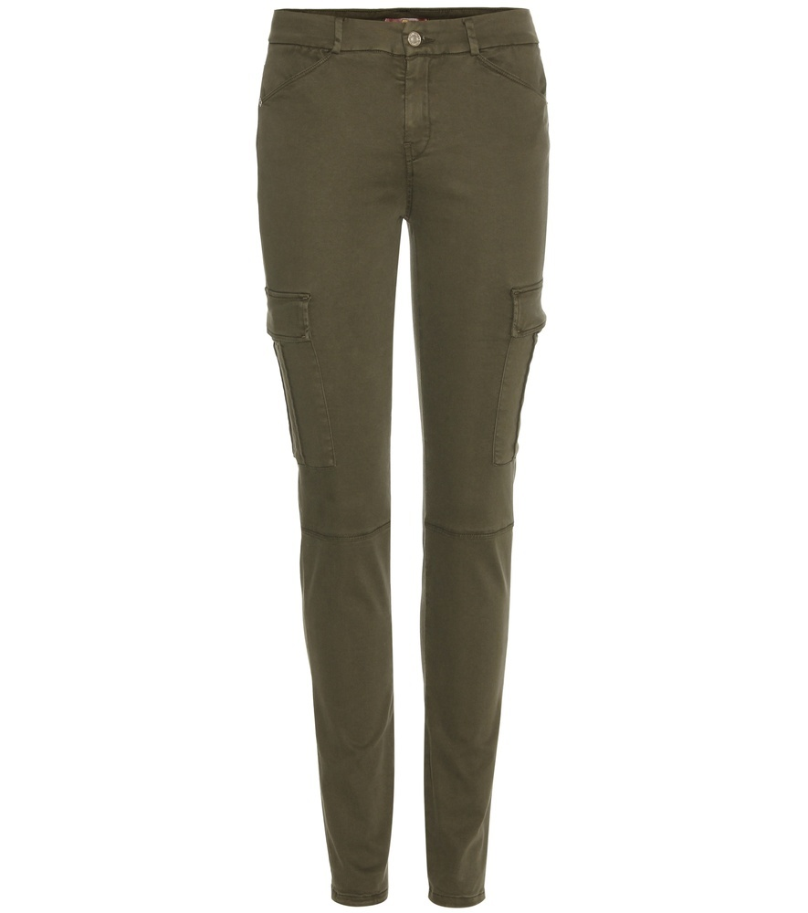 The Skinny Cargo Trousers - length: standard; pattern: plain; waist: mid/regular rise; style: cargo; predominant colour: khaki; occasions: casual; fibres: cotton - stretch; fit: slim leg; pattern type: fabric; texture group: other - light to midweight; season: s/s 2016; wardrobe: basic