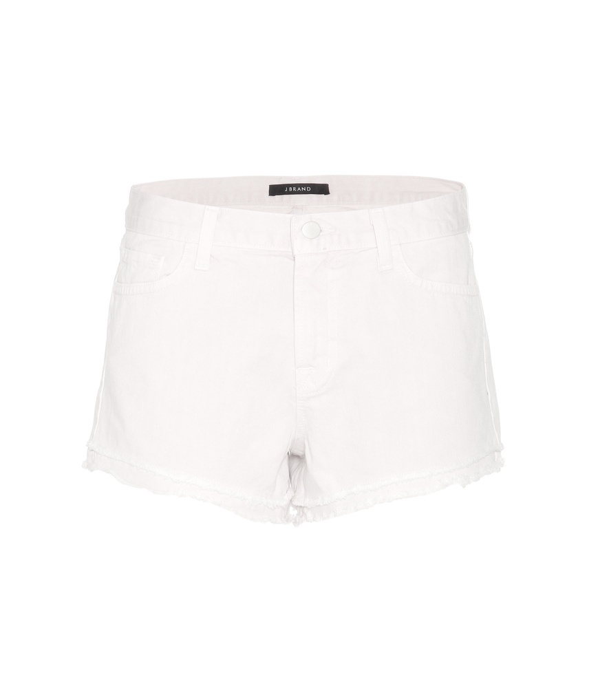 Sachi Low Rise Denim Shorts - pattern: plain; waist: mid/regular rise; predominant colour: white; occasions: casual; fibres: cotton - stretch; texture group: denim; pattern type: fabric; season: s/s 2016; wardrobe: basic; length: short shorts; fit: slim leg