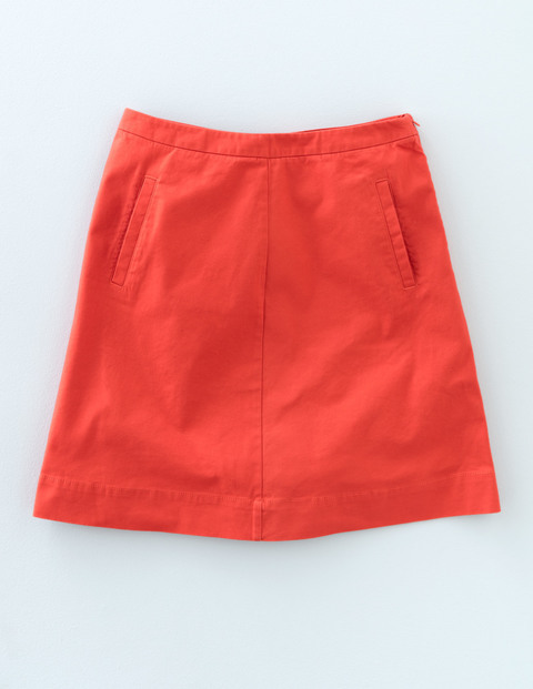 Chino Skirt Braid Women, Braid - length: mid thigh; pattern: plain; fit: loose/voluminous; waist: mid/regular rise; predominant colour: true red; occasions: casual; style: a-line; fibres: cotton - 100%; texture group: cotton feel fabrics; pattern type: fabric; season: s/s 2016; wardrobe: highlight