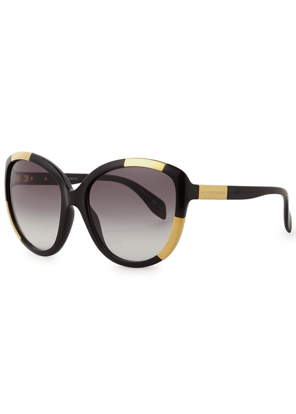Black Oversized Sunglasses - predominant colour: black; occasions: casual, holiday; style: square; size: large; material: plastic/rubber; pattern: tortoiseshell; finish: plain; season: s/s 2016; wardrobe: basic