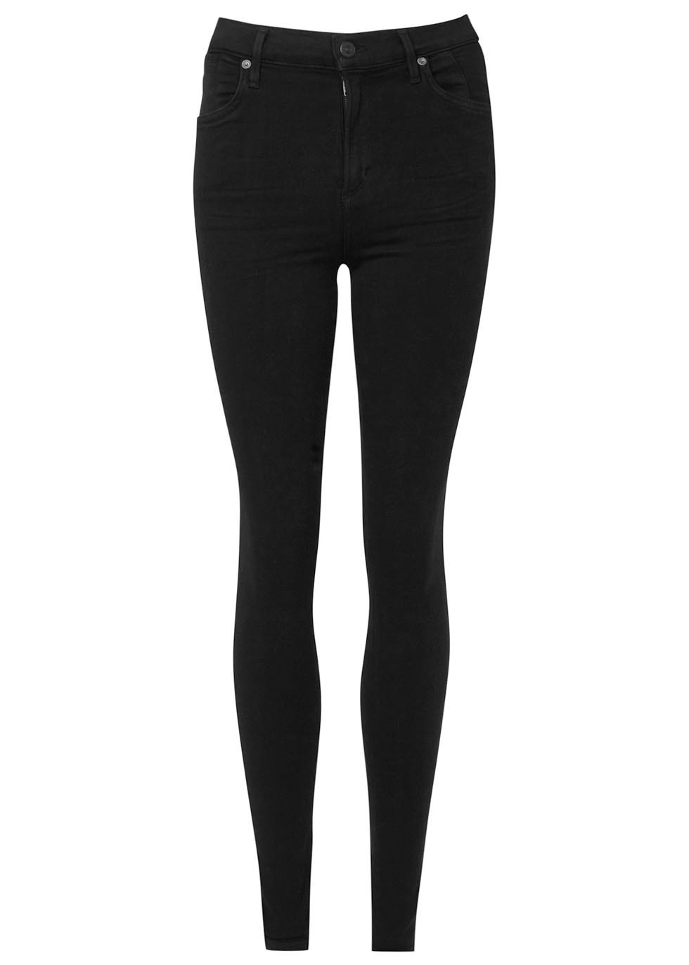 Carlie Sculpt Skinny Stretch Denim Jeans Size W31 - style: skinny leg; length: standard; pattern: plain; waist: mid/regular rise; predominant colour: black; occasions: casual; fibres: cotton - stretch; texture group: denim; pattern type: fabric; season: s/s 2016; wardrobe: basic