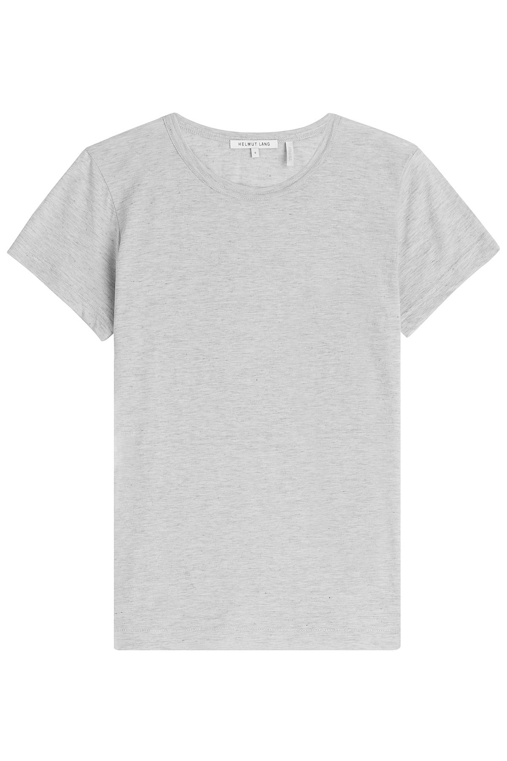 Cotton Cashmere T Shirt Grey - neckline: round neck; pattern: plain; style: t-shirt; predominant colour: light grey; occasions: casual; length: standard; fibres: cotton - mix; fit: straight cut; sleeve length: short sleeve; sleeve style: standard; pattern type: fabric; texture group: jersey - stretchy/drapey; season: s/s 2016; wardrobe: basic