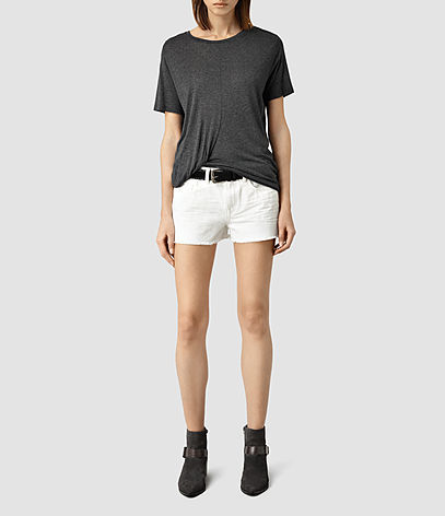 Sasha Boys Shorts - pattern: plain; waist: mid/regular rise; predominant colour: white; occasions: casual, holiday; fibres: cotton - stretch; texture group: denim; pattern type: fabric; season: s/s 2016; style: denim; length: short shorts; fit: slim leg; wardrobe: holiday