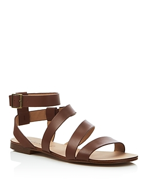 Caracas Strappy Flat Sandals - predominant colour: tan; occasions: casual; material: leather; heel height: flat; ankle detail: ankle strap; heel: standard; toe: open toe/peeptoe; style: strappy; finish: plain; pattern: plain; season: s/s 2016; wardrobe: highlight