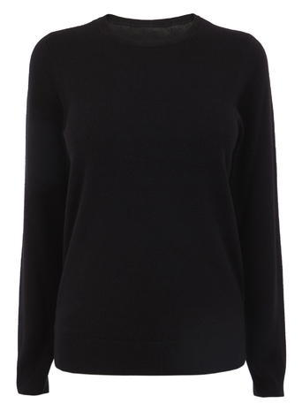 Womens Soft Crew Jumper, Black, Black - pattern: plain; style: standard; predominant colour: black; occasions: casual; length: standard; fibres: acrylic - 100%; fit: standard fit; neckline: crew; sleeve length: long sleeve; sleeve style: standard; texture group: knits/crochet; pattern type: fabric; season: s/s 2016; wardrobe: basic