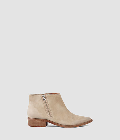Yuree Mid Boot - predominant colour: ivory/cream; occasions: casual, creative work; material: suede; heel height: flat; heel: block; toe: round toe; boot length: ankle boot; style: standard; finish: plain; pattern: plain; season: s/s 2016; wardrobe: basic