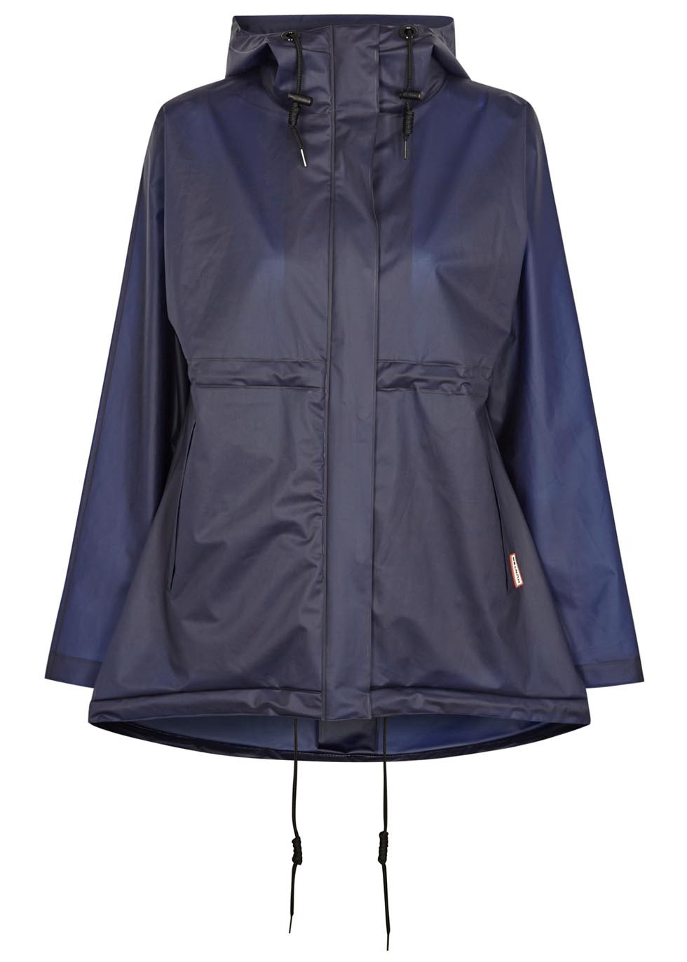 Original Navy Rubberised Raincoat - length: standard; collar: funnel; fit: loose; style: mac; predominant colour: navy; occasions: casual; sleeve length: long sleeve; sleeve style: standard; texture group: technical outdoor fabrics; collar break: high; pattern type: fabric; pattern: colourblock; fibres: pvc/polyurethene - 100%; season: s/s 2016; wardrobe: highlight