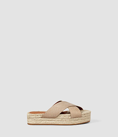 Harlem Sandal - predominant colour: camel; occasions: casual, holiday; material: leather; heel height: flat; heel: block; toe: open toe/peeptoe; style: strappy; finish: plain; pattern: plain; shoe detail: platform; season: s/s 2016; wardrobe: basic