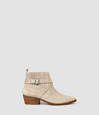 Quentin Boot - predominant colour: ivory/cream; occasions: casual; material: leather; heel height: mid; heel: block; toe: pointed toe; boot length: ankle boot; style: standard; finish: plain; pattern: plain; season: s/s 2016; wardrobe: basic