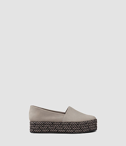 Bora Slip On Shoe - predominant colour: taupe; occasions: casual, creative work; material: suede; heel height: flat; toe: round toe; finish: plain; pattern: plain; style: espadrilles; season: s/s 2016; wardrobe: highlight