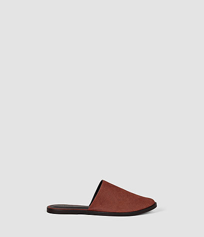 Rick Slip On Sandal - predominant colour: terracotta; occasions: casual, creative work; material: suede; heel height: flat; heel: standard; style: slides; finish: plain; pattern: plain; toe: caged; season: s/s 2016; wardrobe: highlight