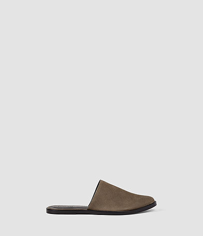 Rick Slip On Sandal - predominant colour: taupe; occasions: casual; material: leather; heel height: flat; heel: standard; style: slides; finish: plain; pattern: plain; toe: caged; season: s/s 2016; wardrobe: highlight