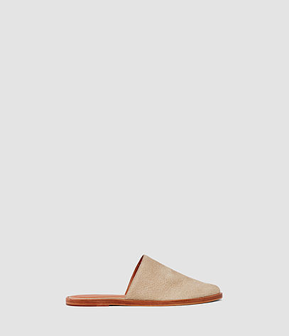 Rick Slip On Sandal - predominant colour: stone; occasions: casual; material: leather; heel height: flat; heel: standard; style: slides; finish: plain; pattern: plain; toe: caged; season: s/s 2016; wardrobe: highlight